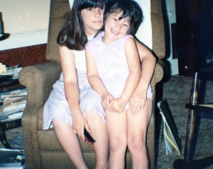 Me & my sister, a long time ago